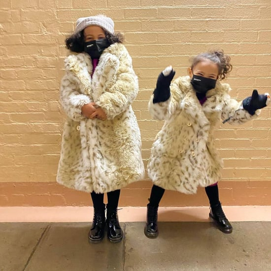 Meena Harris's Daughters Wear Leopard Coats Like Kamala's