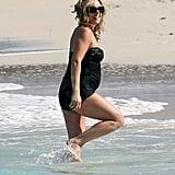 30 Rock's Jane Krakowski Debuts Her Baby Bump in Swimsuit!