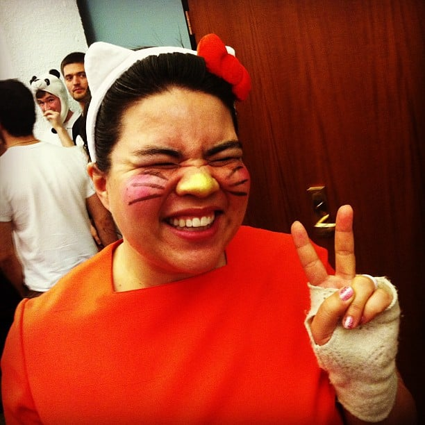 Product manager Sabrina made herself into Hello Kitty.