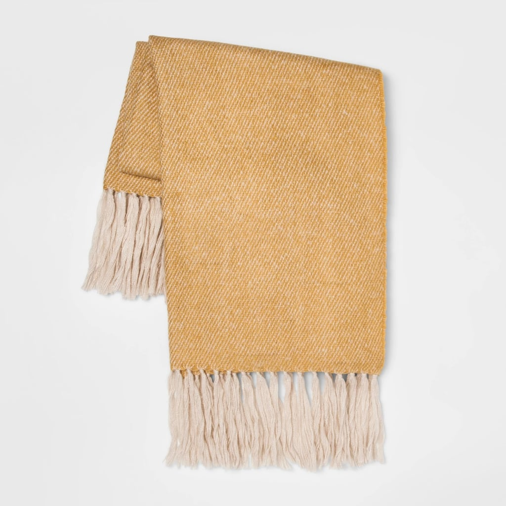 Faux Mohair Twill Throw Blanket