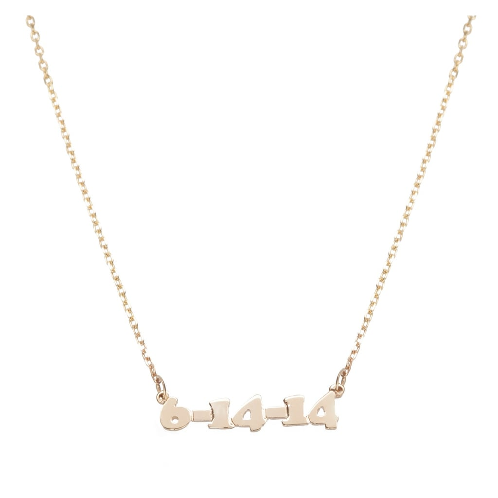 """Kendall and Gigi wear the Lola James Mini Me Necklace ($98-$300) to signify their friendship. While the supermodels have a golden chain that reads """"KenGi,"""" my best friend and I plan to pick these up with the date """"1996"""" — it's the year we met. — SW"""