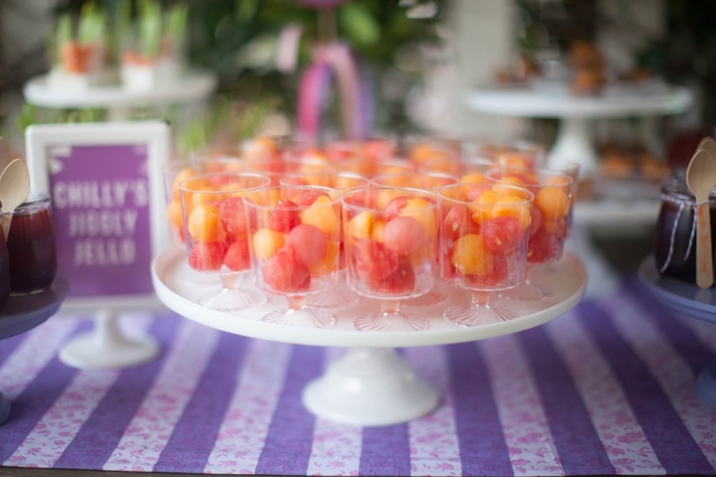Fruit cups provided some refreshment before heading over to the dessert table.  Source: Jenny Cookies