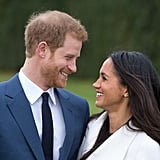 Prince Harry and Meghan Markle at Their Engagement Announcement in 2017