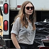 Dakota Fanning and Elizabeth Olsen Get to Set With Demi Moore