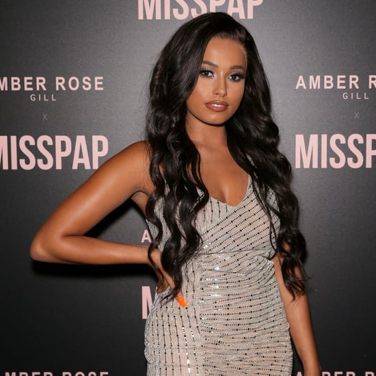 Amber Gill Wears Sleek and Wavy Wig at Miss Pap Launch