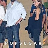 Sept. 20, 2015: Ben and Jen left Malibu's Nobu restaurant after dinner together.