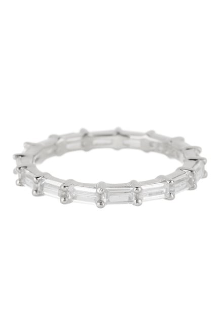 Platinum-Toned Eternity Band