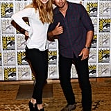 Shailene Woodley and Theo James at the Ender's Game and Divergent press lines.