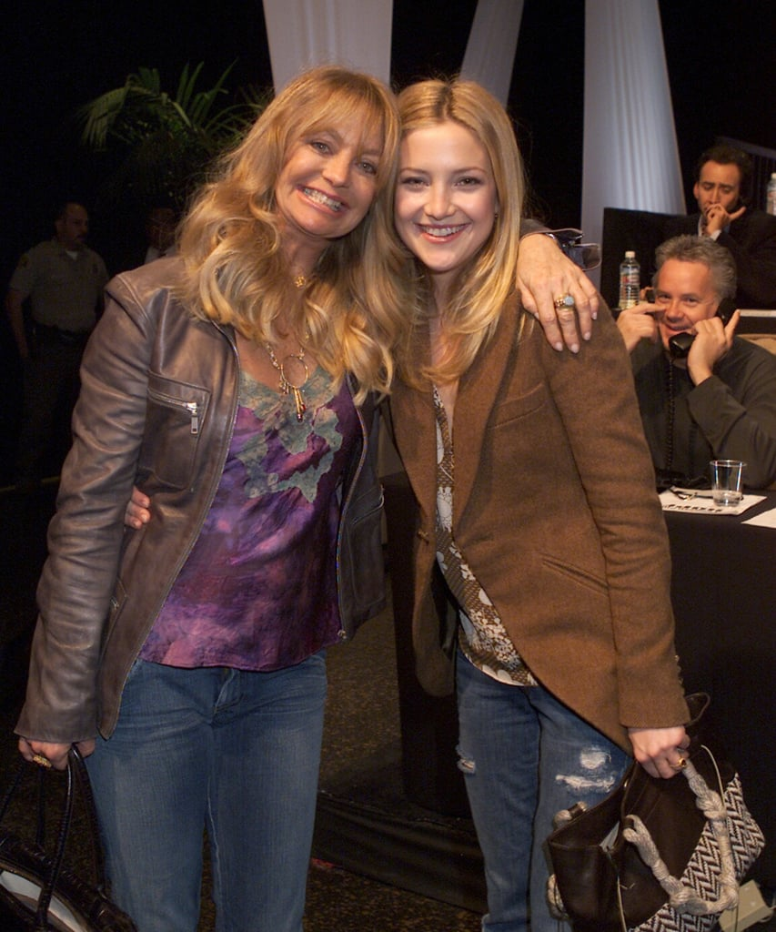 """Kate Hudson and Goldie Hawn's mother-daughter bond is unlike most others. Whether they're hitting a red carpet together or giving each other sweet shout-outs on social media, there's no denying that the nearly 37-year-old actress truly has one of the coolest moms in Hollywood. Throughout her time in the spotlight, Kate has opened up about her tight-knit relationship with Goldie, calling her """"incredibly lovable"""" and revealing, """"I pretty much talk to her every day. I can't really go a week. It's super rare."""" With Mother's Day right around the corner, we're looking back at the sweetest things Kate has said about her look-a-like mom."""