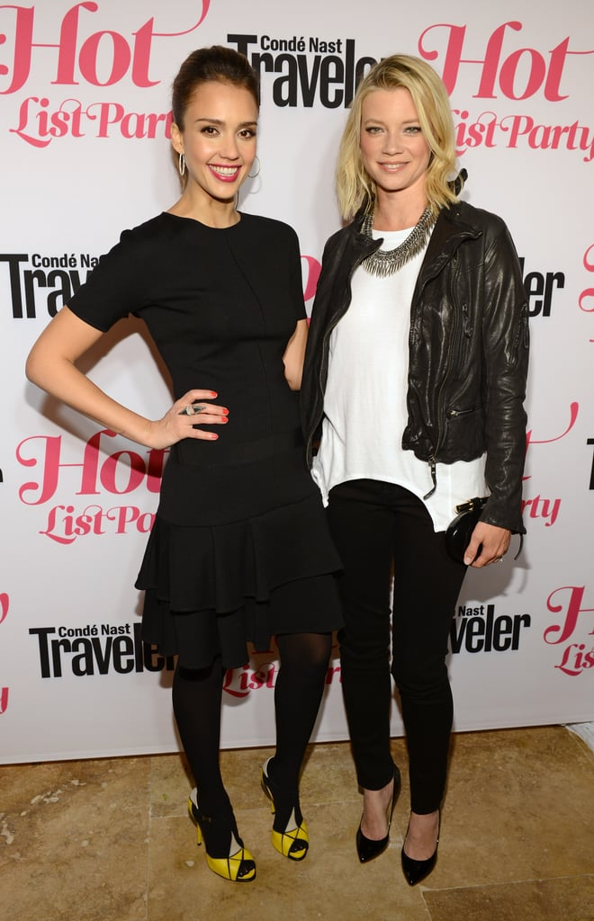 Jessica Alba got together with Amy Smart at the Condé Nast Traveler Hot List Party in LA.