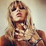 Suki Waterhouse showed off a dark manicure and a punk-rock hand chain. Source: Instagram user sukiwaterhouse