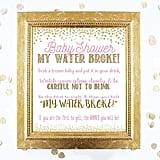 My Water Broke Baby Printable Shower Game