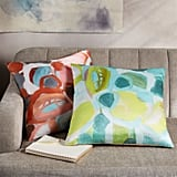 West Elm Silk Impasto Floral Pillow Cover