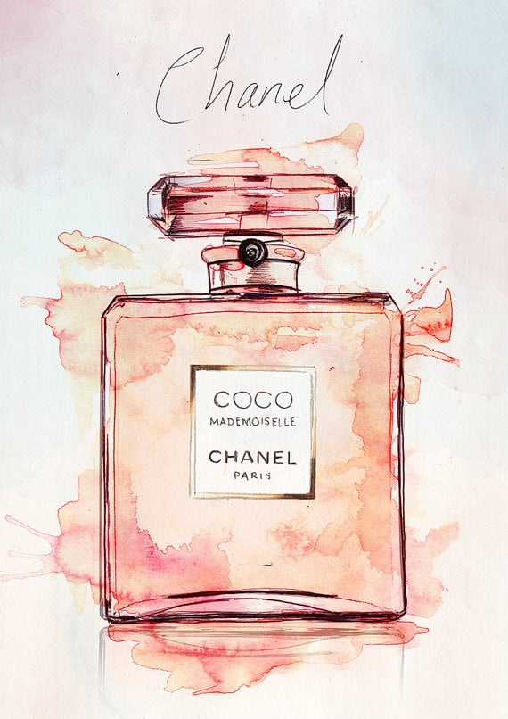 Coco Mademoiselle Chanel Watercolour Illustration, approx ...
