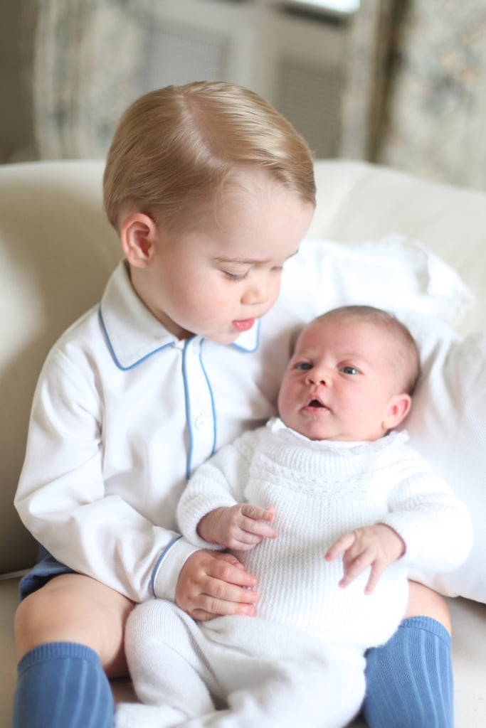 George looked into his sister's beautiful eyes in May 2015.