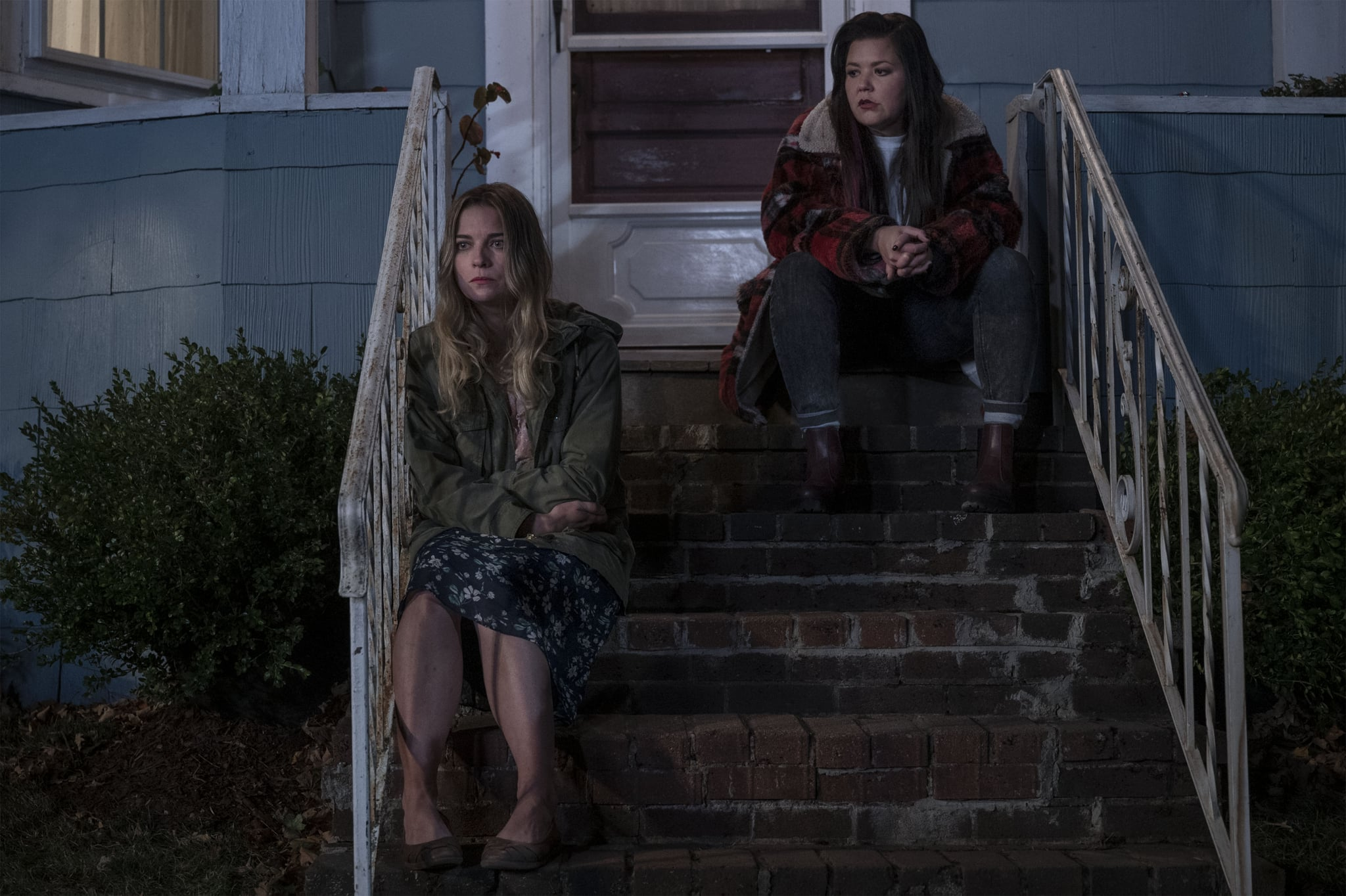Annie Murphy as Allison, Mary Hollis Inboden as Patty - Kevin Can F*** Himself _ Season 1, Episode 1 - Photo Credit: Jojo Whilden/AMC