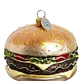 Cheeseburger Glass Ornament
