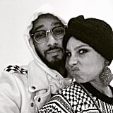 Swizz Beatz and Alicia Keys shared this cute snap in honor of the holiday.