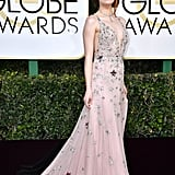 Emma Stone at the 2017 Golden Globe Awards