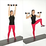 Shoulder Press With Side Crunch