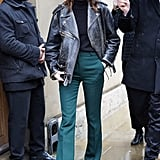 Alexa Chung's Street Style at London Fashion Week
