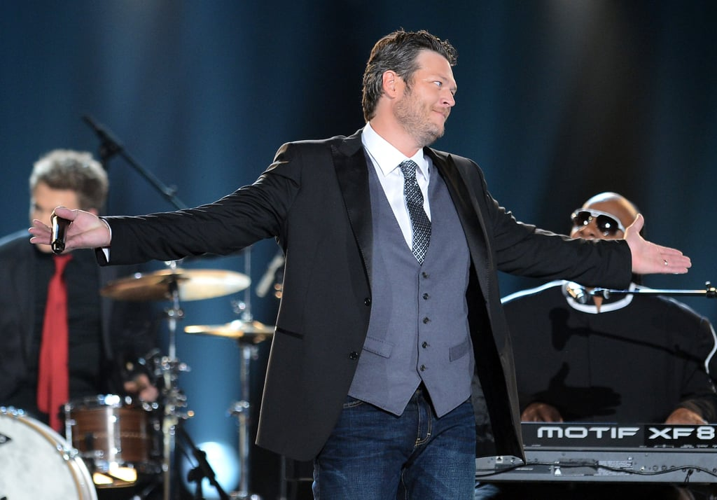 Blake Shelton cohosted the event.