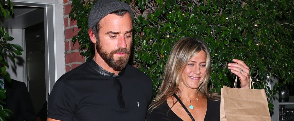 "Jennifer Aniston's Dress Doesn't Scream ""Look at Me,"" but Her Tiny Bag Does"