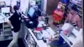 Naked Thief Robs a Convenience Store