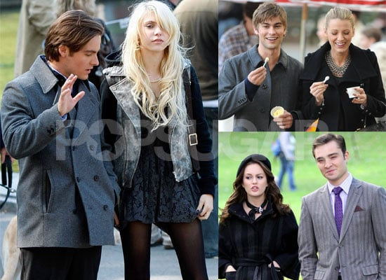 Gallery of Pictures of Kevin Zegers Filming Gossip Girl with Taylor Momsen, Blake Lively, Ed Westwick, Chace Crawfor, Leighton