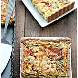 Asparagus, Leeks, and Roasted-Tomato Quiche