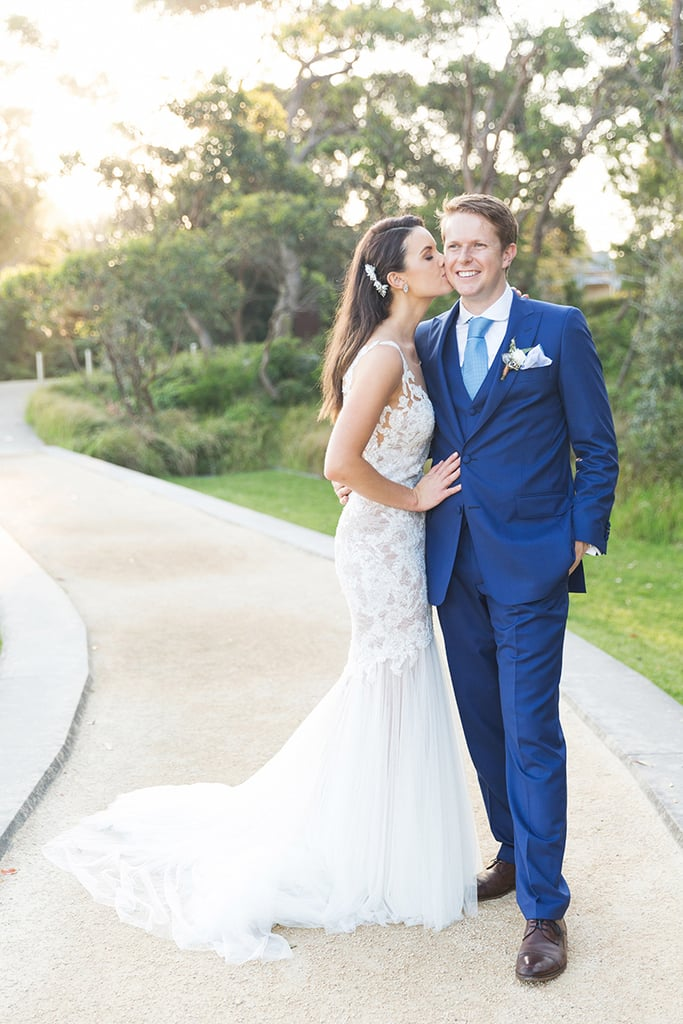 The Real Bride Who Wore a Breathtaking Backless Gown