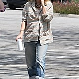 Possibly pregnant Drew Barrymore went for a stroll.