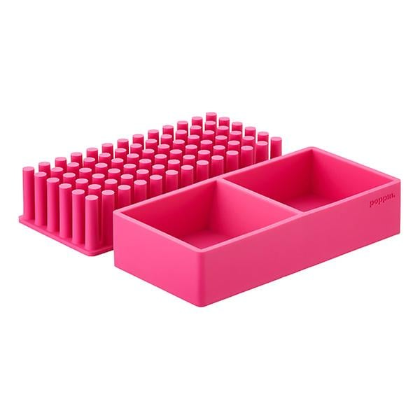 Pink Poppin Silicone Organizer