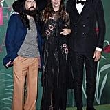 Alessandro Michele, Lou Doillon and Marco Bizzarri at The Green Carpet Fashion Awards 2019