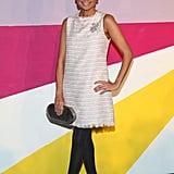 Kristin Chenoweth struck a pose in a pretty LWD at Alice + Olivia's Fall presentation.