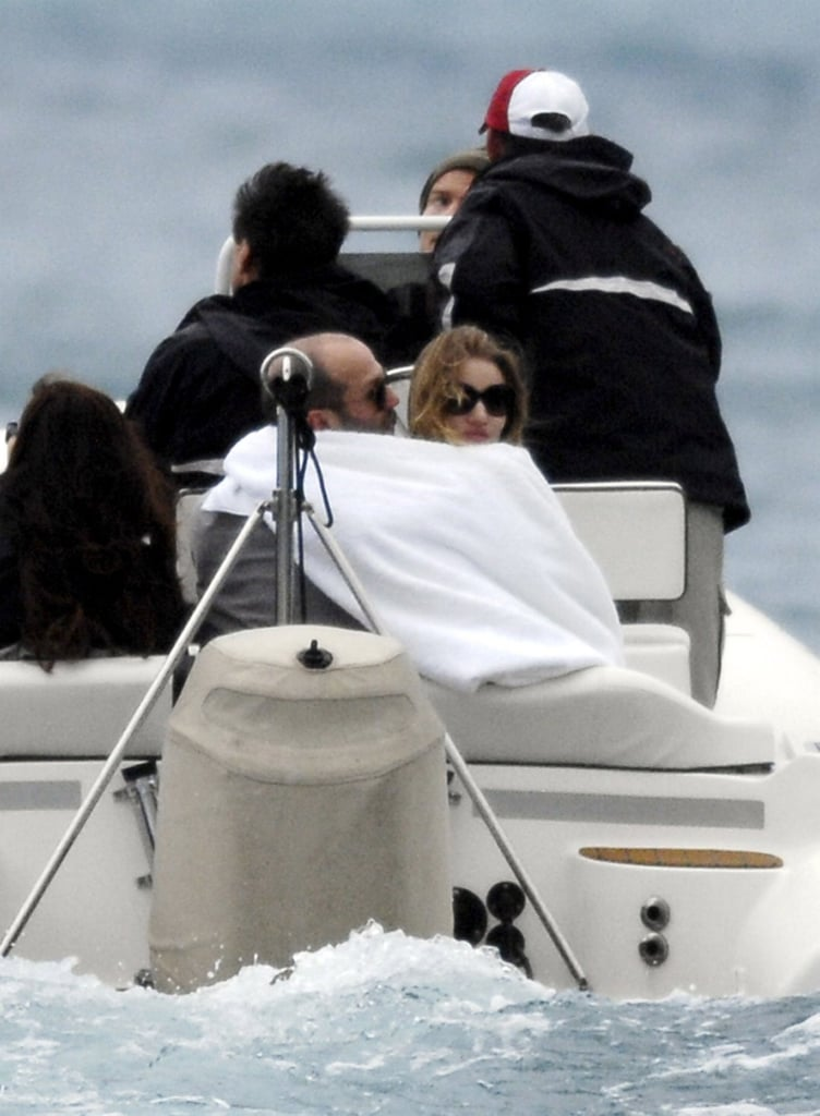 Pictures of Jason Statham and Rosie Huntington-Whiteley PDA in St Barts