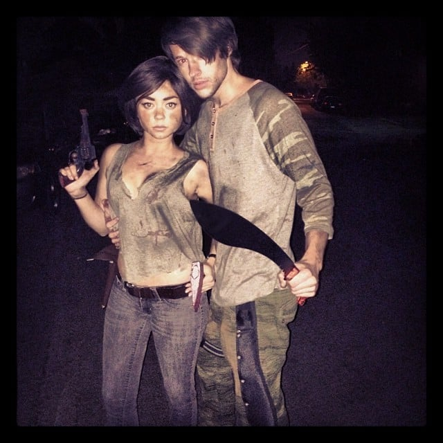 Sarah Hyland and her boyfriend Matt Prokop were characters from The Walking Dead. Source: Instagram user therealsarahhyland