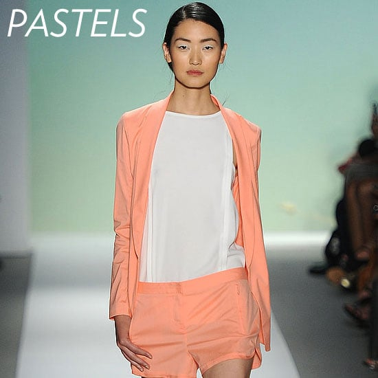 Why we love it: We're head over heels for pastels. While pastel pants might be hard to pull off, we're smitten with a candy-colored jacket. It's such an easy way to breathe new life into your Spring look. Tibi's orange sherbet hue is spot-on and will look good against almost every sun-kissed skin tone. How to wear it: Style it with white and light denim washes for a chic daytime look. If you're looking to amp up the contrast, try pairing it with a LBD for a standout evening ensemble. Photo: Tibi Spring 2012