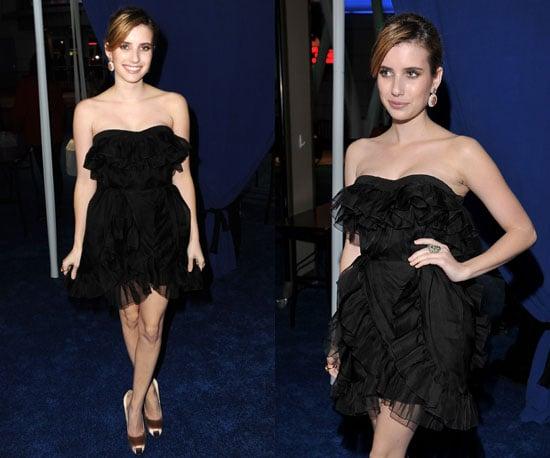 Emma Roberts frilly Dior LBD at 2011 People's Choice Awards