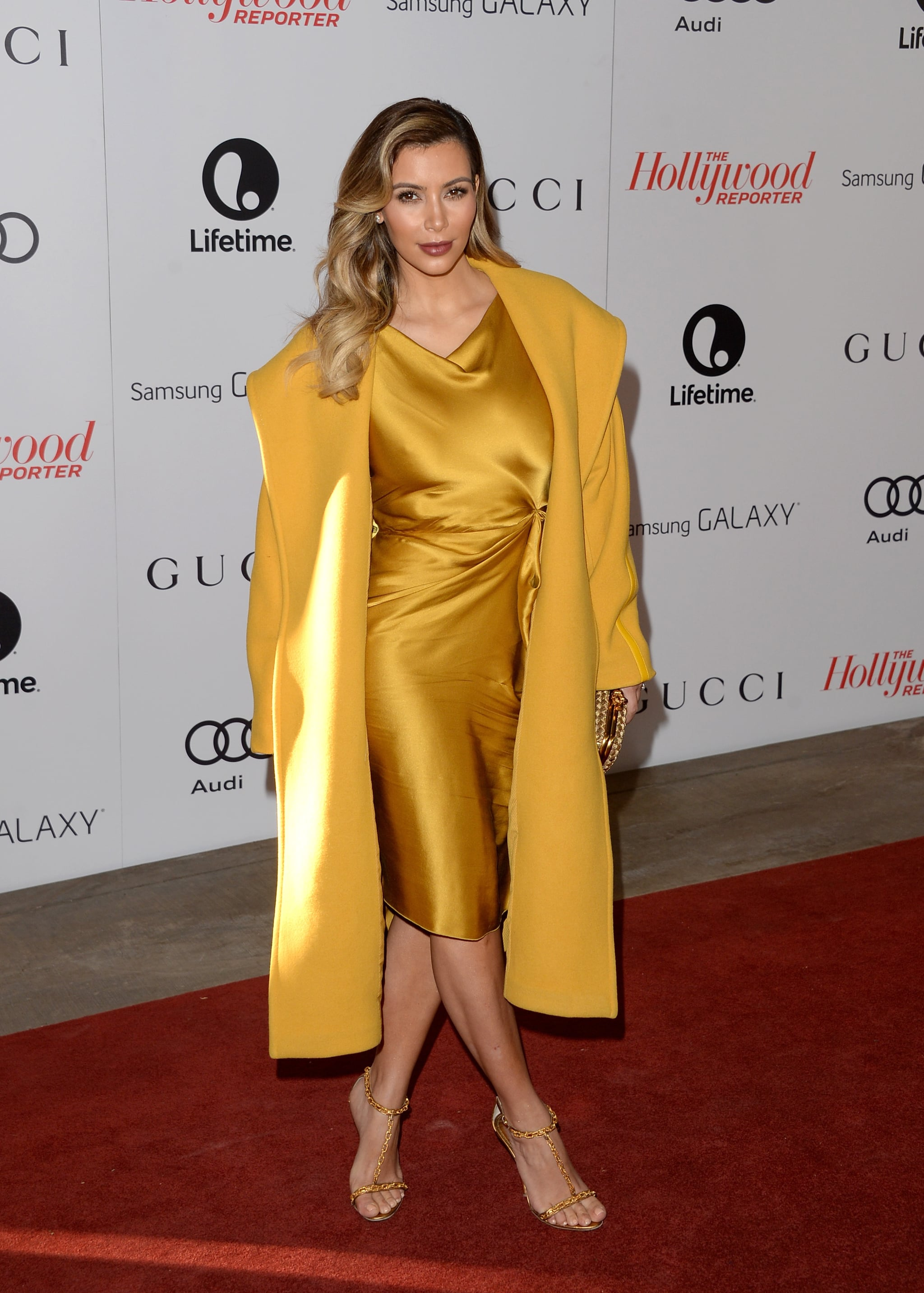 Kim Kardashian hit the red carpet bright and early at The Hollywood Reporter's Women in Entertainment breakfast in Beverly Hills, CA.
