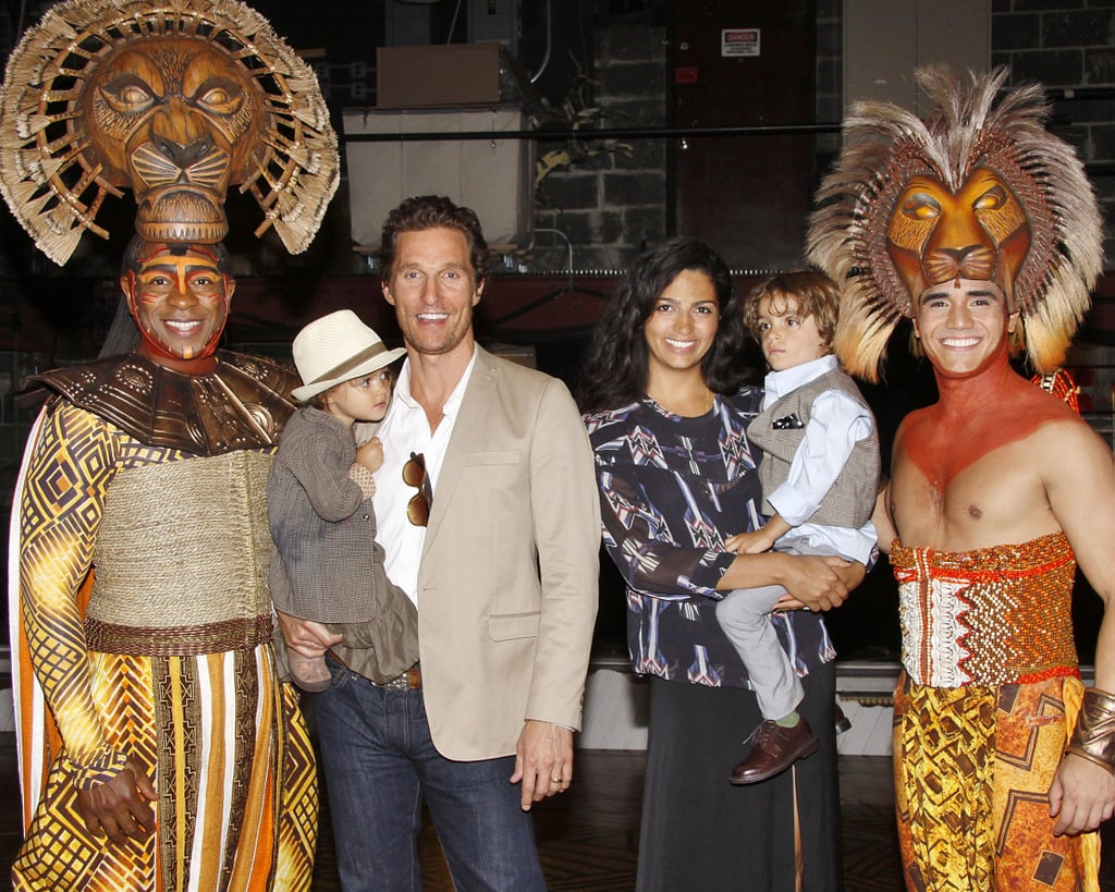 It was a sweet family outing for Matthew, Levi, Vida, and Camila, watching The Lion King on Broadway in June 2012.