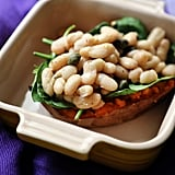 Baked Sweet Potatoes With Cannellini Beans and Spinach