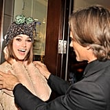 Keira Knightley jokes with Viggo Mortensen.