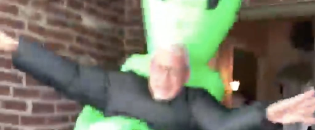 Funny Video of Dad Dressed Up as an Alien
