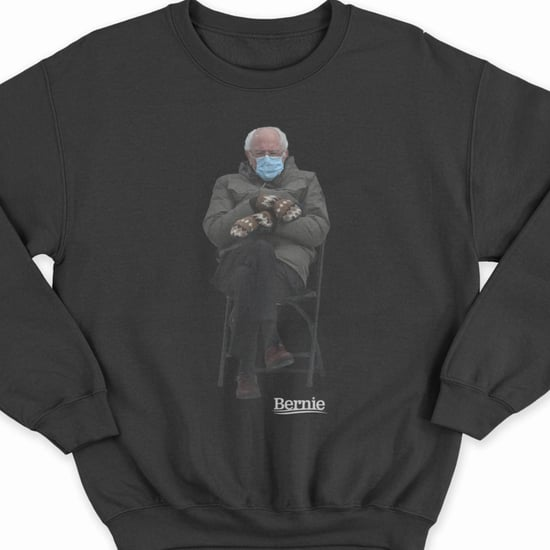 Shop Bernie Sanders Inauguration Meme Sweatshirt For Charity