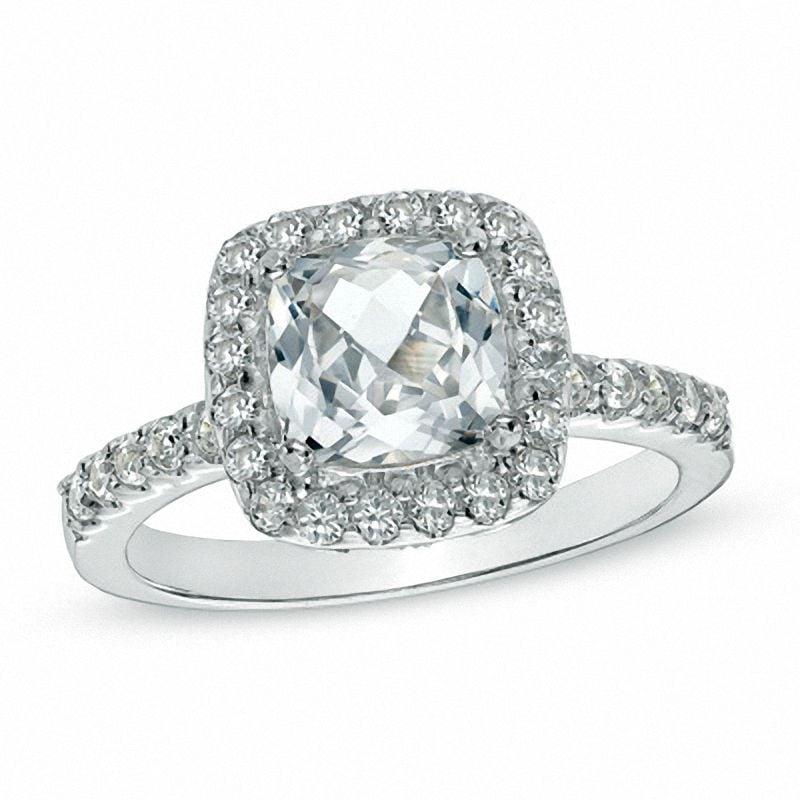 Zales Cushion-Cut Ring