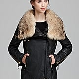 The typical style gets a switch-up with a rich swath of fur on this SAM. jacket ($895).