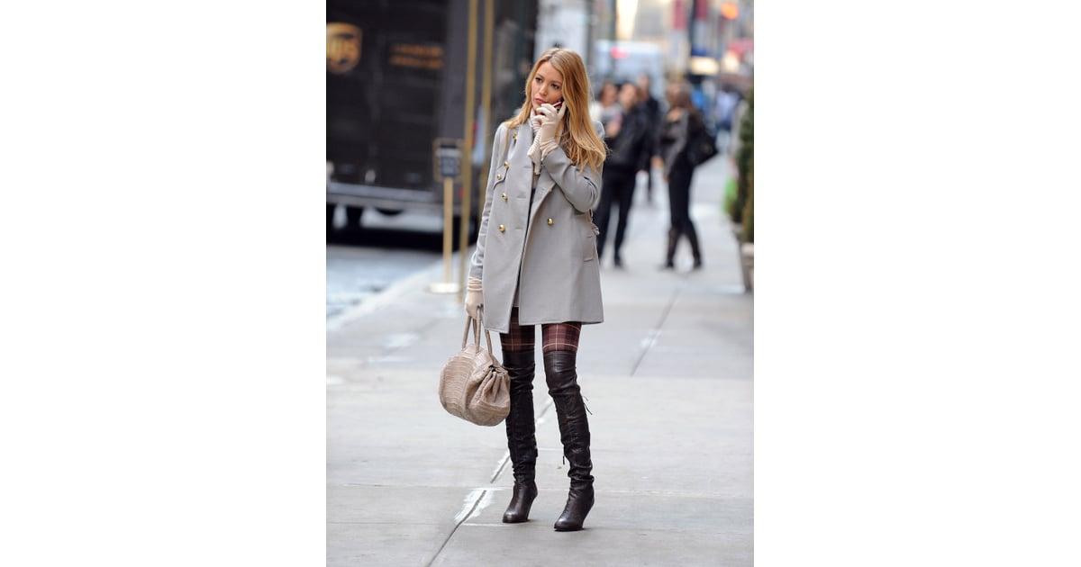 Sky High Boots Blake Lively 39 S Best Gossip Girl Style Popsugar Fashion Photo 36