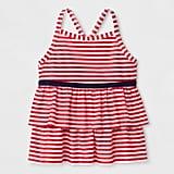 Stripe Tankini Swim Top