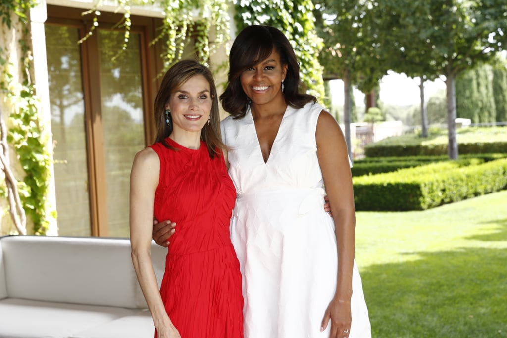 Michelle's trip to Madrid also included a meeting at the Spanish Royal Palace with Queen Letizia!